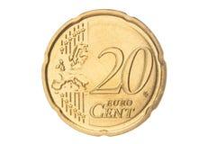 Closeup för cent för euro tjugo Royaltyfri Bild