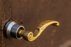 Closeup för dörrhandtag Royaltyfria Foton