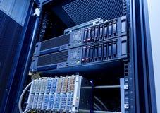 Closeup för datorhall för kugge för utrustning för bladserverserver royaltyfri fotografi