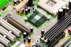 Closeup för datorströmkretsbräde Royaltyfri Bild