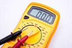 Closeup för Digital multimeter Fotografering för Bildbyråer