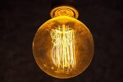 Closeup för glödande lampa royaltyfria foton