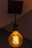 Closeup för glödande lampa Arkivfoton