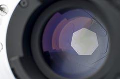 Closeup för kameraLens slutare Royaltyfri Fotografi