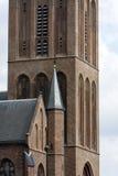 Closeup för kyrkligt torn royaltyfria bilder