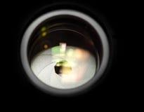 Closeup för Lens öppning Fotografering för Bildbyråer