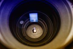 Closeup för Lens öppning Royaltyfria Foton