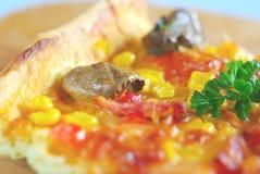 Closeup för matlagning för mat för Piza målmellanmål Royaltyfri Bild