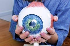 Closeup för oftalmologioculusprövkopia arkivfoto