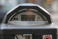 Closeup för parkeringsmeter Arkivfoto