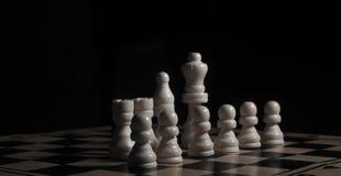 Closeup för schackstycken på brädet Royaltyfri Fotografi