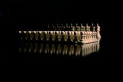 Closeup för schackstycken på brädet Royaltyfri Foto