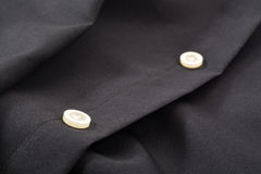 Closeup för skjortaknappar Fotografering för Bildbyråer