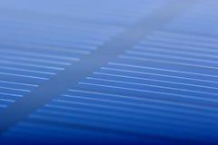Closeup för sol- batteri Arkivbilder