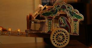 Closeup för stycke för tjurvagn dekorativ arkivfilmer