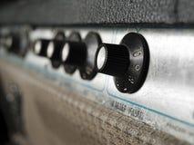 Closeup för tappninggitarrförstärkare Royaltyfria Foton