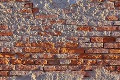 Closeup för tegelstenvägg arkivfoto