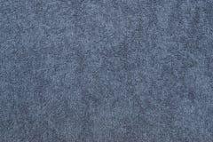 closeup för tyg för Grå färg-blått frottébomull Royaltyfria Bilder