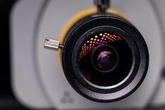 Closeup för videokameralins clock round supervision arkivfoto