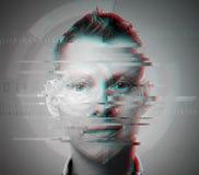 Closeup f?r tekniskt felmanframsida fotografering för bildbyråer