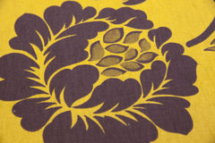 Closeup fabric with floral detail Royalty Free Stock Image