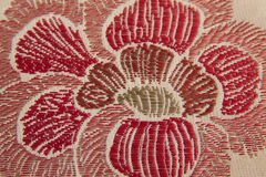 Closeup fabric with flower detail Royalty Free Stock Image