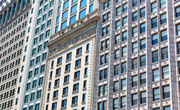 Closeup facade of building in retro style. Stock Image