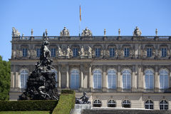 Closeup of the facade of castle Herrenchiemsee, Bavaria Royalty Free Stock Photography