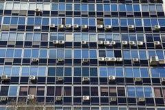 Closeup facade office building. Royalty Free Stock Photography
