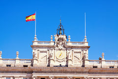 Closeup of facade of Royal Palace Royalty Free Stock Photos