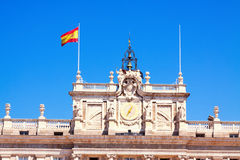 Closeup of facade of Royal Palace in Madrid Stock Photography