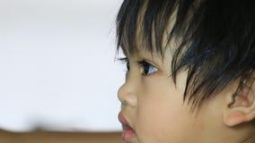 Closeup face of baby stock video
