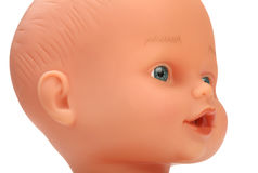 Closeup face of baby doll Royalty Free Stock Photos