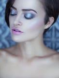 Closeup face of beautiful girl Royalty Free Stock Images
