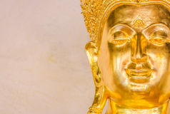 Closeup of the face of buddha's image . Stock Photo