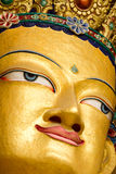 Closeup of the face of giant statue of the Maitreya Buddha Royalty Free Stock Images