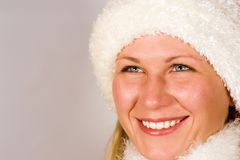 closeup face girl s smiling Στοκ Εικόνες