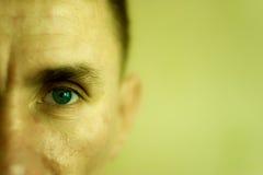 Closeup face man stock image