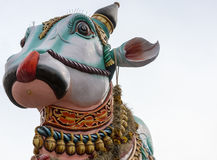 Closeup of face of Nandi, the bull. Stock Images