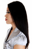 Closeup face in profile. Stock Images