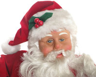 Closeup face of Santa Claus Stock Photo