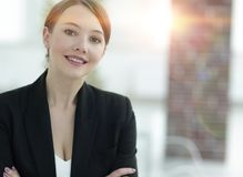 Closeup.face of a successful business woman. Photo with copy space Stock Photo