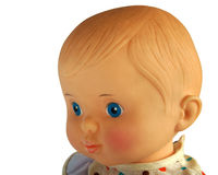 Closeup face of vintage doll Royalty Free Stock Photo