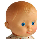 Closeup face of vintage doll Royalty Free Stock Image