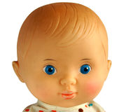 Closeup face of vintage doll Stock Photo