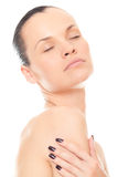 Closeup face woman with healthy skin Royalty Free Stock Photo