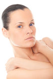 Closeup face woman with healthy skin Royalty Free Stock Photography