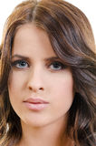 Closeup face woman Royalty Free Stock Image