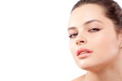 Closeup facial portrait of beautiful  woman Stock Images