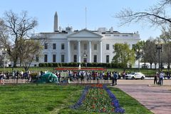 Closeup of the White House in Washington D.C. in the USA royalty free stock photos